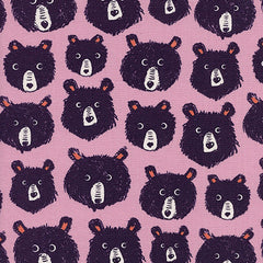 Cozy Teddy and The Bears in Lilac from Cozy by Sarah Watts for Cotton+Steel