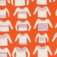 Cozy My Favorite Sweater in Orange from Cozy by Alexia Abegg for Cotton+Steel