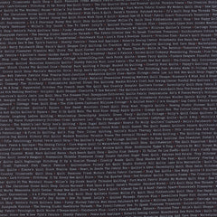 Mama Said Sew V2 Store Names in White on Black from Mama Said Sew Volume 2 by Sweetwater for Moda