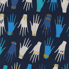 Beauty Shop Manicure in Navy from Beauty Shop by Sarah Watts for Cotton+Steel