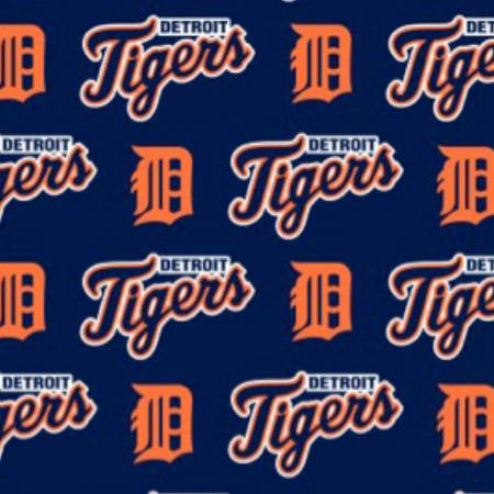 Detroit Tigers Logos in Orange and Blue