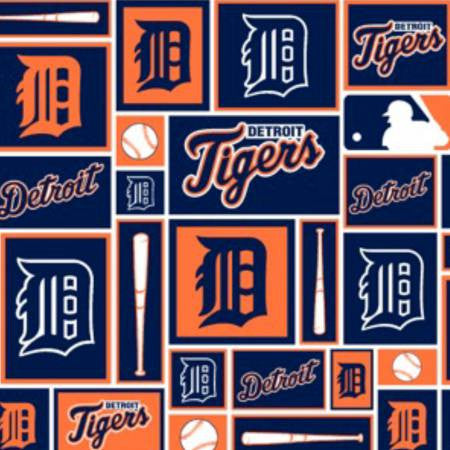 Detroit D and Bats in Orange and Blue
