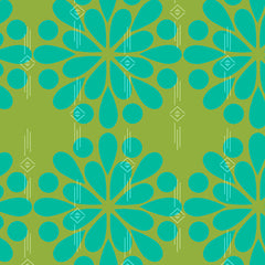 Ex Libris Floral in Green from Ex Libris by Alison Glass for Andover