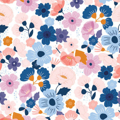 Floral Splendor Wild Flowers in Blue from Floral Splendor by Cathy Nordstrom for Andover