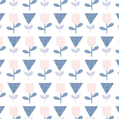 Floral Splendor Tulips  in Blue from Floral Splendor by Cathy Nordstrom for Andover Fabrics