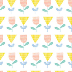 Floral Splendor Tulips  in Yellow from Floral Splendor by Cathy Nordstrom for Andover Fabrics