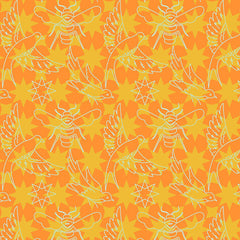 Seventy Six Birds And Bees in Orange from Seventy Six by Andover House Designers  for Andover