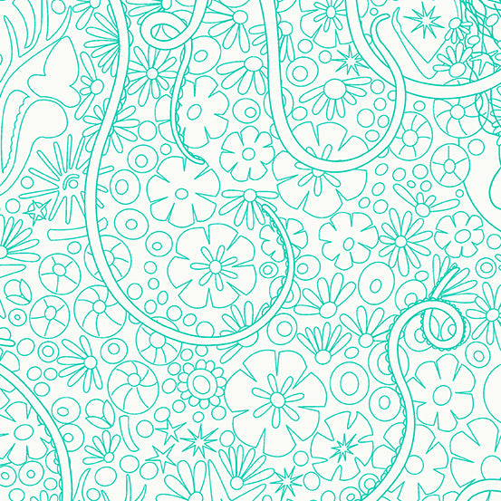 A-8634-T Sun Print Light Depths in Jade by Alison Glass for Andover Fabrics from Pink Castle Fabrics