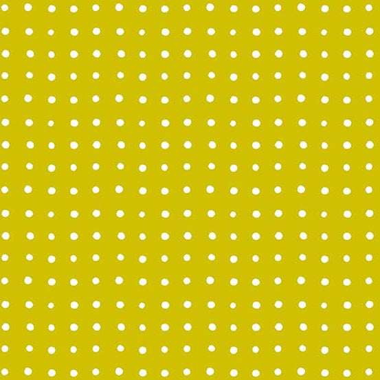 Around Town Small Dots in Mustard