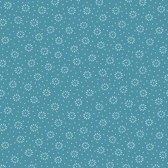 A-9047-T1 Daisy in Blue from Andover Fabrics at Pink Castle Fabrics