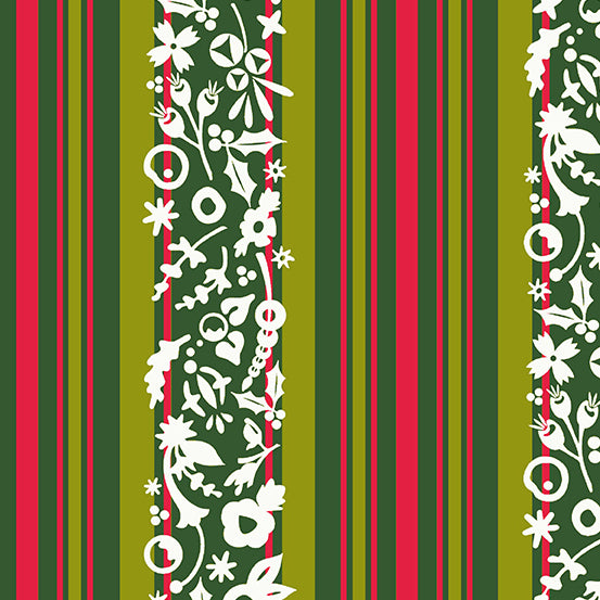 Holiday Stripe in Mistletoe by Alison Glass for Andover Fabrics