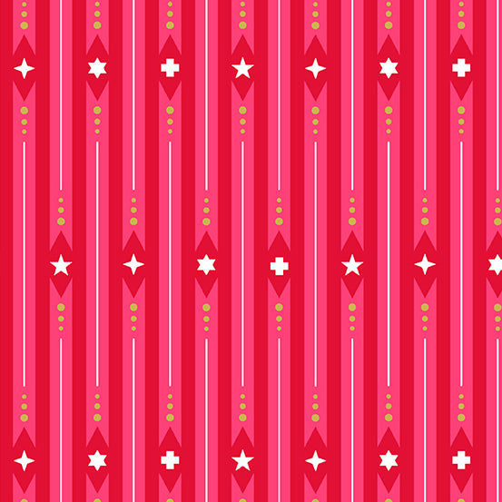 Holiday Ribbon in Peppermint by Alison Glass for Andover Fabrics