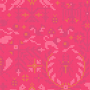 A-9387-E Sun Print 2020 Menagerie in Salmon by Alison Glass for Andover Fabrics from Pink Castle Fabrics
