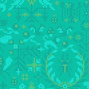 A-9387-T Sun Print 2020 Menagerie in Mermaid by Alison Glass for Andover Fabrics from Pink Castle Fabrics