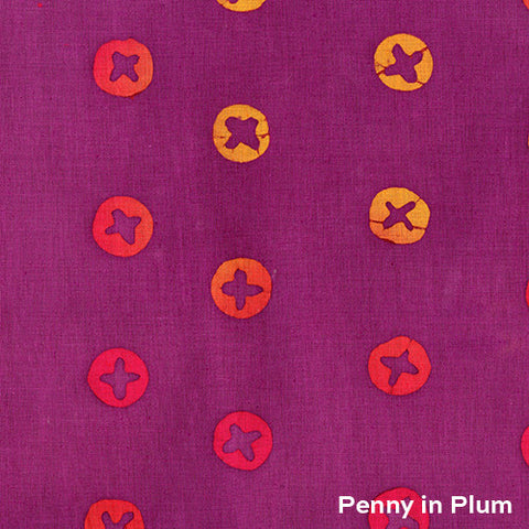 Handcrafted 2 Penny in Plum