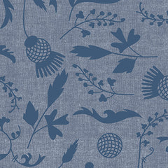 Ex Libris Plants in Navy from Ex Libris by Alison Glass for Andover