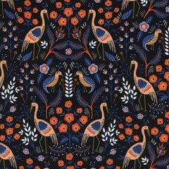 Les Fleurs Tapestry in Black from Les Fleurs by Rifle Paper Company for Cotton+Steel