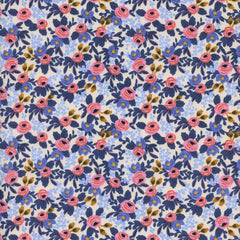 Les Fleurs Rosa in Periwinkle from Les Fleurs by Rifle Paper Company for Cotton+Steel