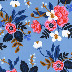 Les Fleurs Birch Floral Rayon in Periwinkle from Les Fleurs by Rifle Paper Company for Cotton+Steel