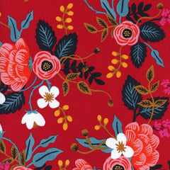 Les Fleurs Birch Floral Rayon in Enamel from Les Fleurs by Rifle Paper Company for Cotton+Steel