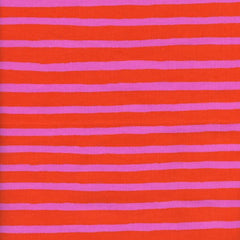 Wonderland Cheshire Stripe in Orange from Wonderland by Rifle Paper Company for Cotton+Steel