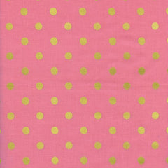 Wonderland Caterpillar Dot in Pink Metallic from Wonderland by Rifle Paper Company for Cotton+Steel