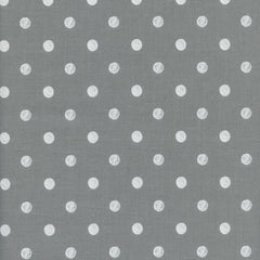 Wonderland Caterpillar Dot in Gray from Wonderland by Rifle Paper Company for Cotton+Steel