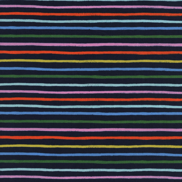 Amalfi Happy Stripes Lawn in Navy