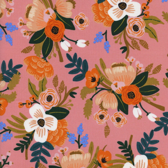 Amalfi Lively Floral Rayon in Coral