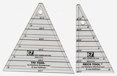 Tri Recs Triangle Rulers from Notions by Latifah Saafir Studios for EZ Tools