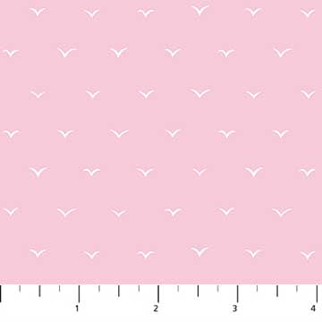 90082-21 Salt Wind Seagulls in Pink by Emily Taylor for FIGO Fabrics from Pink Castle Fabrics