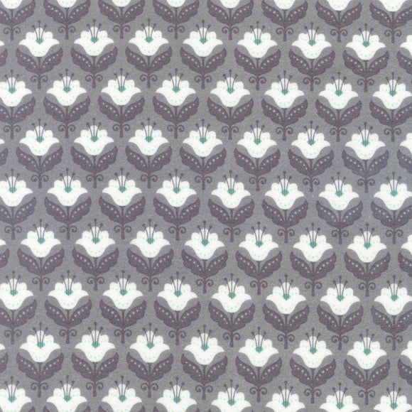 Fleurie Flannel Damask Flannel in Ash
