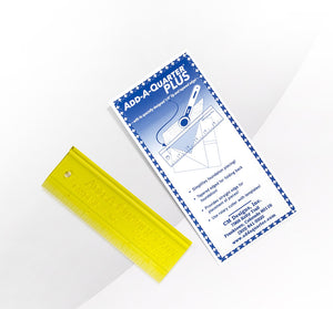 Add A Quarter PLUS Ruler - 6 Inch - Yellow