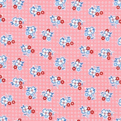 Pennys Flowers on Dots in Camellia from Penny's Dollhouse by Darlene Zimmerman for Robert Kaufman