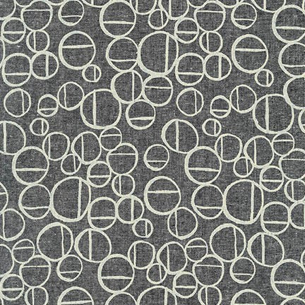 Forage Circles Essex Linen in Charcoal