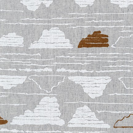 AFH-19015-184 CHARCOAL Driftless River Rock in Charcoal by Anna Graham for Robert Kaufman Fabrics at Pink Castle Fabrics