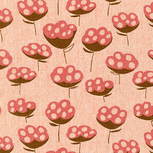 AFH-19016-380 ORANGEADE Driftless Flower in Orangeade by Anna Graham for Robert Kaufman Fabrics at Pink Castle Fabrics