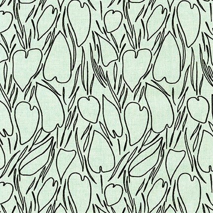 AFH-19017-70 AQUA Driftless Heart Shaped Leaves in Aqua by Anna Graham for Robert Kaufman Fabrics at Pink Castle Fabrics