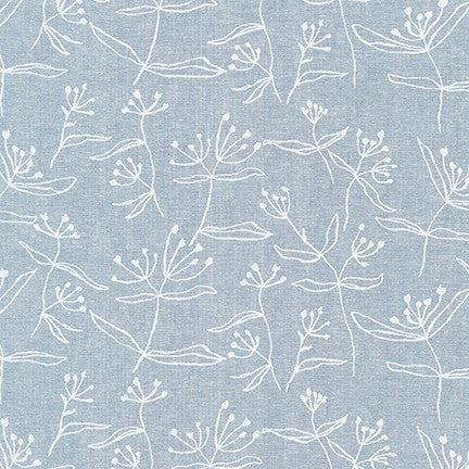 AFH-19021-407 CHAMBRAY Driftless Floral in Chambray by Anna Graham for Robert Kaufman Fabrics at Pink Castle Fabrics