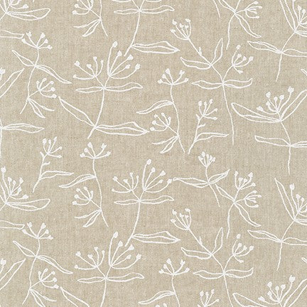 AFH-19021-415 FLAX Driftless Floral in Flax by Anna Graham for Robert Kaufman Fabrics at Pink Castle Fabrics
