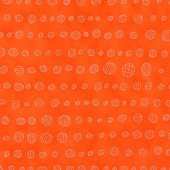 Doe Lined Dots in Carrot from Doe by Carolyn Friedlander for Robert Kaufman