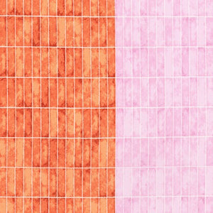 AFR-19067-349 NECTARINE Jetty Partitioned Border in Nectarine by Carolyn Friedlander for Robert Kaufman Fabrics at Pink Castle Fabrics