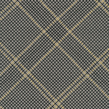 Collection CF Grid Diamond Metallic Border in Pewter