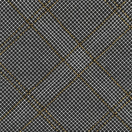 Collection CF Grid Diamond Metallic Border in Black