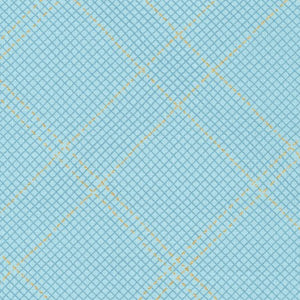 Collection CF Grid Diamond Metallic Border in Dusty Blue