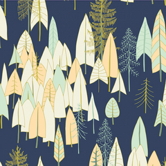 Altitude Forests in Navy from Altitude by Pippa Shaw for Dashwood Studio