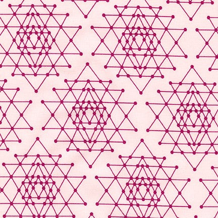 Palm Canyon Geo Triangles in Pink