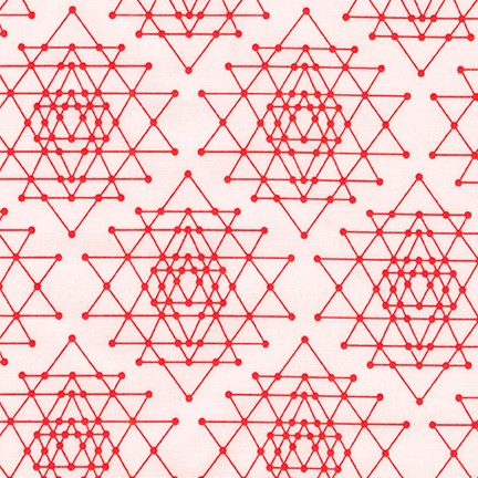 Palm Canyon Geo Triangles in Coral