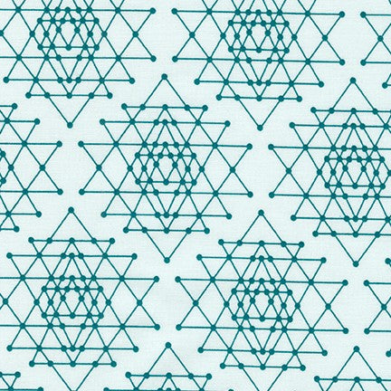 Palm Canyon Geo Triangles in Teal