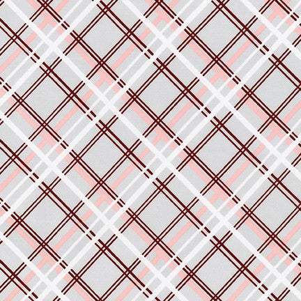AVL-19251-186 SILVER Buffalo Flats Plaid in Silver by Violet Craft for Robert Kaufman Fabrics at Pink Castle Fabrics